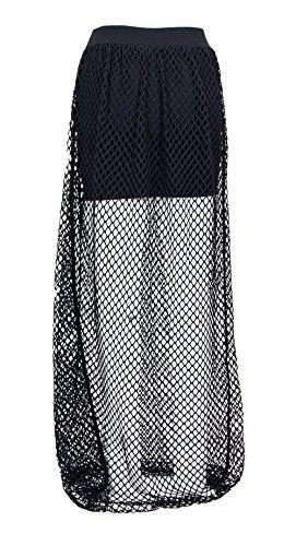 Noir BOY BL1168BLACK Femme Polyester Jupe LONDON 7UqvO