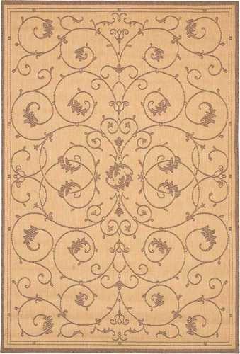 Couristan Brown Runner (Couristan 1583/3000 Recife Veranda 2-Feet 3-Inch by 7-Feet 10-Inch Rug, Natural)