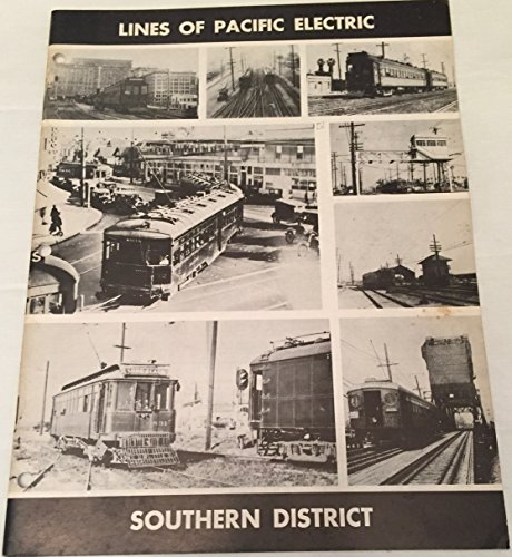 Pacific Railway Map Electric (Lines of Pacific Electric Southern District)