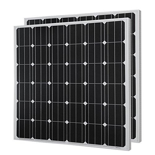 HQST 150 Watt 12 Volt Monocrystalline Solar Panel (2 Pieces)