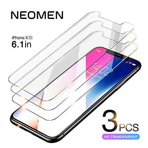 iPhone XR Screen Protector 6.1 (3 Pack) Neomen iPhone XR Tempered Glass Screen Protector, 9H Hardness 99.9% Transparency iPhone XR Screen Protector 2018
