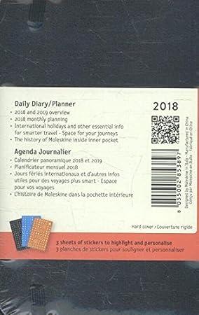 84fc36b6097945 2018 Moleskine Pocket Daily Diary 12 Months Hard  Moleskine  Amazon.co.uk   Office Products