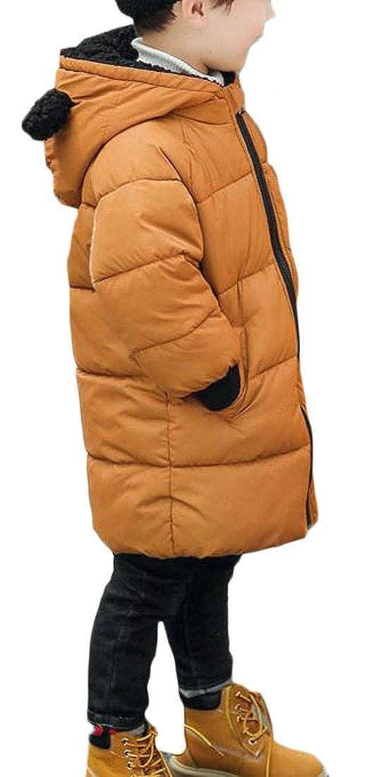 Etecredpow Boy Girl Warm Outwear Hooded Winter Quilted Down Jacket Parka Coat