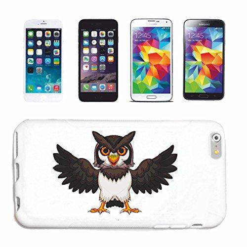 """cas de téléphone iPhone 6+ Plus """"OWL aux ailes déployées UHU ROSSIGNOL"""" Hard Case Cover Téléphone Covers Smart Cover pour Apple iPhone en blanc"""