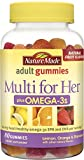 gummy vitamins with omega 3 - Nature Made Multi for Her + Omega-3 Adult Gummies w. 60 mg of EPA and DHA Omega 3, 80 Ct