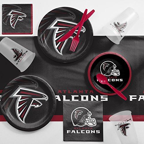 Creative Converting Atlanta Falcons Game Day Party Supplies Kit, Serves -
