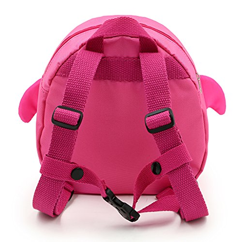 Hipiwe Baby Toddler Walking Safety Backpack Little Kid Boys Girls Anti-lost Travel Bag Harness Reins Cute Cartoon Penguin Mini Backpacks with Safety Leash for Baby 1-3 Years Old (Pink) by Hipiwe (Image #2)