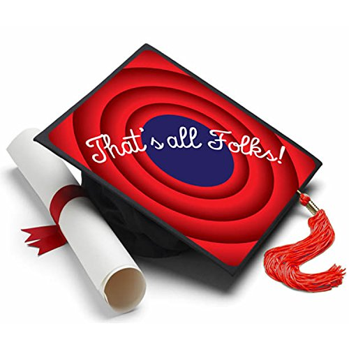 Tassel Toppers That's All Folks Graduation Cap Decorated Grad Caps - Decorating Kits (Keepsake Kit Graduation)