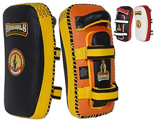 MUGHALS Elite Curved Thai Pad (Yellow/Black)