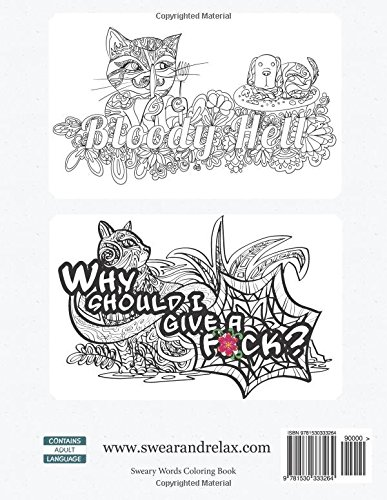 Amazon Com Angry Swearing Cats Creative Sweary Coloring Book For