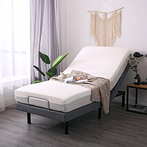 LEISUIT Adjustable Bed Frame with Back & Foot Massage, Wireless Remote Control, Memory Pre-Sets, Dual USB Ports, Nightlight, Zero-Gravity(Tool-Free Assembly) Twin XL