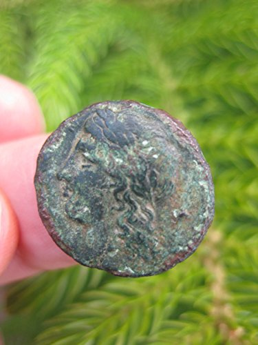 Beautiful genuine Greek coin from Syracuse, Sicily, Pegasus flying, 317-289 BC