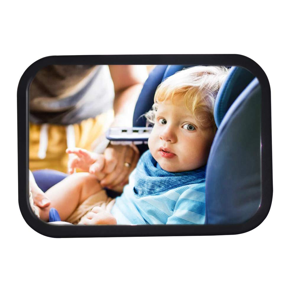 Baby Safe Baby Car Mirror 360 Degree Adjustment Car Baby Mirror View Infant in Rear Facing Car Seat Baby Girl Car Mirror Car Seat Mirrror Baby Anti-Fall Baby Mirror for Car WIWU 2237472011