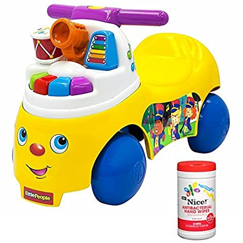 Fisher-Price Melody Maker Musical Foot-To-Floor Ride On Toy for Kids with Antibacterial Hand Wipes - Vespa Cable