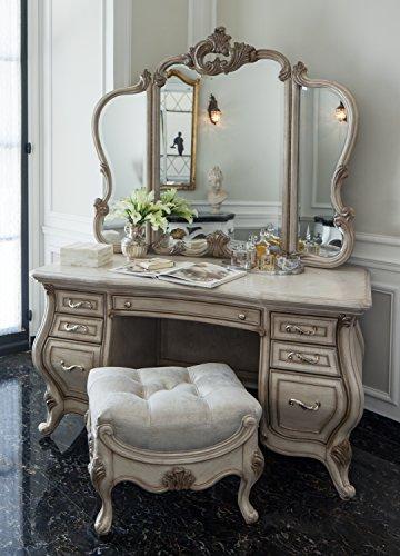 Platine de Royale 2 Piece Vanity & Mirror Set by Michael Amini in (Aico Furniture)