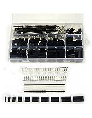 ARCELI 1100 Piezas, 40 Pines, 2,54 mm, cabeceras de una hilera de Pines de hilera - Caja de Conector Dupont Hembra Dupont Macho/Hembra, Kit de Conector de Clavija