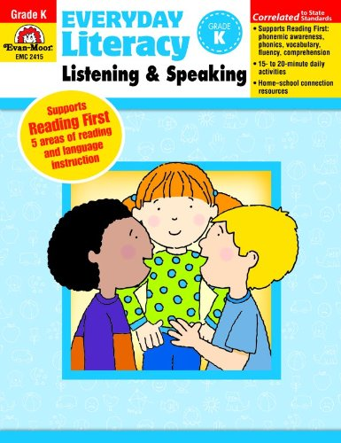 Everyday Literacy Listening and Speaking, Grade K (Everyday Literacy: Listening & Speaking)