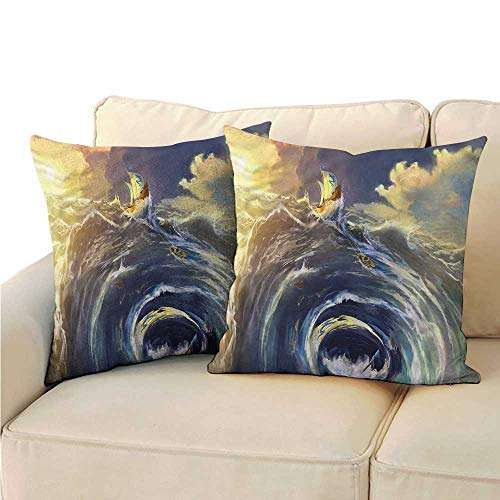 - Godves Pillowcase Nautical Ship Whirlpool Maelstrom Resists Stains, Wrinkles 18
