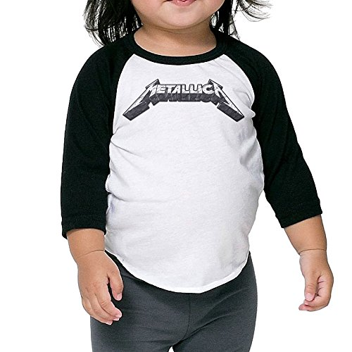 Carina Children's Middle Sleeve Metallica Bottoming Shirt 5-6 Toddler