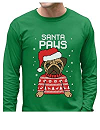 TeeStars - Santa Paws Pug Ugly Christmas Sweater Dog Long Sleeve T-Shirt