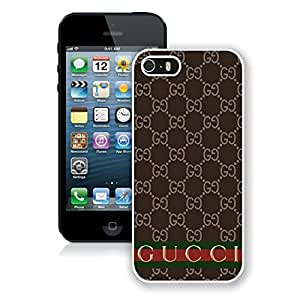 Fahionable Custom Designed iPhone 5S Cover Case With Gucci 35 White Phone Case