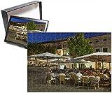 Photo Jigsaw Puzzle of Restaurants in the Plaza Mayor, Pollenca (Pollensa), Mallorca (Majorca)