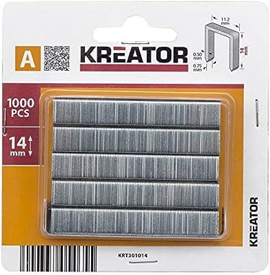 KREATOR 1000 Tackerklammern für Handtacker 12 mm Länge Heftklammern Klammern