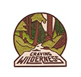 #5: Asilda Store Craving Wilderness Iron-on Patch - Perfect for Backpack and Jackets - For Your Type of Fun [Adventure, Outdoor, Camping, Hiking, Travel] - Cute Vintage Looking Embroidered Badge