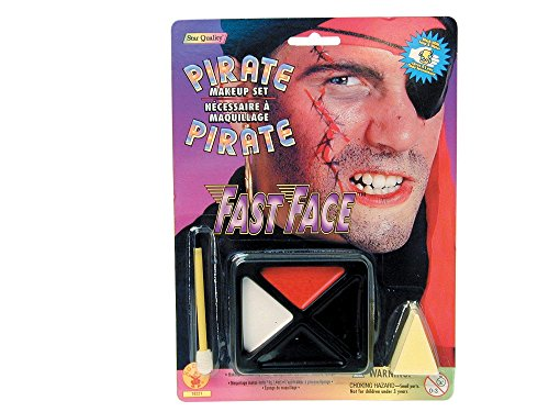 Kids Pirate Makeup (Rubie's Fast Face Make Up Pirate)