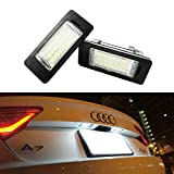iJDMTOY OEM Replacement Xenon White LED License Plate Light Assemblies For Audi A1 A6 A7 Q5 TT Volkswagen Jetta Passat Touareg Touran, etc