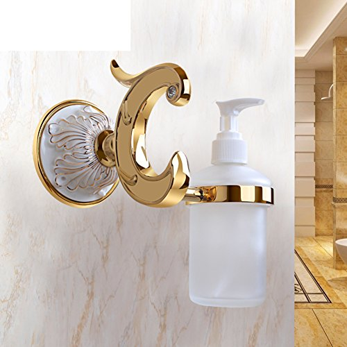HCP Golden ceramic carved soap rack Soap dish Bathroom wall-mounted soap box-C by HCP JIAZHUANG