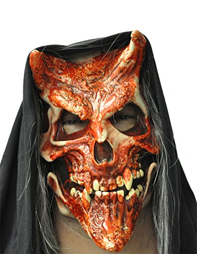 Whispers Bloody Devil Scary Skull Horror Latex Adult Halloween Costume Mask