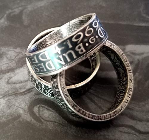 Coinring, Münzring, Ring aus Münze, 625er Silber - Double Sided coin ring - verschiedene Größen, Ihr handgeschmiedetes Unikat