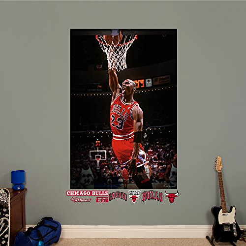 NBA Chicago Bulls Michael Jordan Mural Fathead Real Big Decals, 4'0'' x 6'0'' by Fathead Peel and Stick Decals