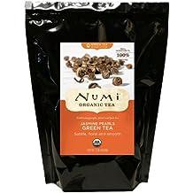 Numi Organic Tea Jasmine Pearls, Green Tea, Loose Flowering Tea Buds, 16 Ounce Bulk Pouch