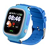 Kids Smart Watch Phone, GPS Tracker Smart Wrist Watch with SOS Anti-Lost Alarm Sim Card Slot Touch Screen Smartwatch for 3-12 Year Old Children Girls Boys Compatible for iPhone Android (Blue)