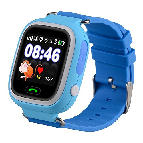 Kids Smart Watch Phone, GPS Tracker Smart Wrist Watch with SOS Anti-lost Alarm Sim Card Slot Touch Screen Smartwatch for 3-12 Year Old Children Girls Boys Compatible for iPhone Android (Blue) from Themoemoe