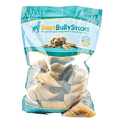 Best Bully Sticks 100% Natural Cow Hooves Dog Chews by (25 count Value Pack) by Best Bully Sticks