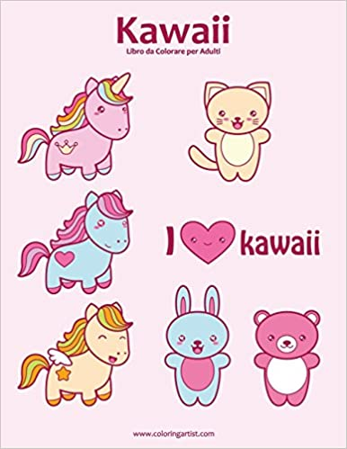 Amazon It Kawaii Libro Da Colorare Per Adulti 1 Volume 1 Nick