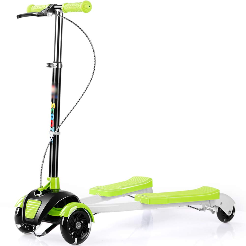 クラシック キックスクーター三輪車スケートボードペダル式乗用スタントスクーター折りたたみTバーハンドルLEDライトアップホイール付き調節可能な Green B07HCJXVRS Green Green B07HCJXVRS Green, ciel bleu:2a7bb081 --- a0267596.xsph.ru