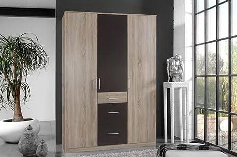 Puertas giratorias de ropa armario 3-puertas, en madera de roble ...