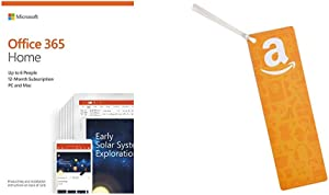 Microsoft Office 365 Home 12 Month Subscription up to 6 People PC and Mac Key Card + $50 Amazon.com Gift Card