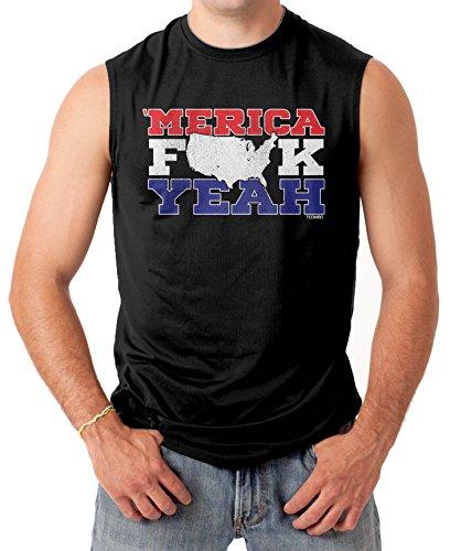 Merica Fuck Yeah Men's SLEEVELESS T-shirt Tee