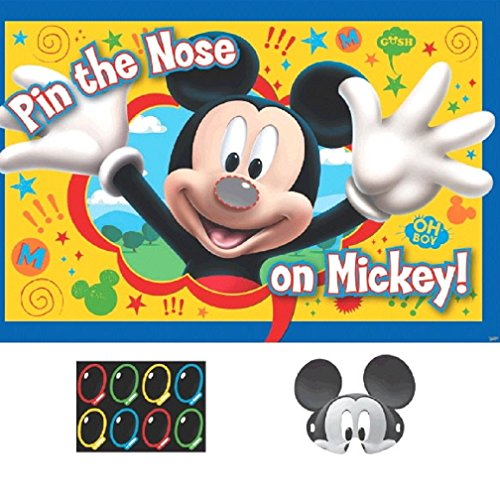 Mickey Party Game, Pin The Nose on Mickey, (Minnie Mouse Birthday Game Ideas)