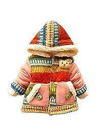 Baby Girl Kids Cute Bear Bohemia Pocket Winter Warm Gown Outwears Coat Jacket