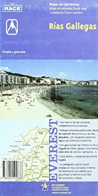 Mapa turístico de las Rías Gallegas Mapas de Costas de España / serie azul: Amazon.es: Cartografía Everest: Libros