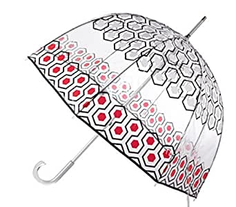Totes Clear Bubble Umbrella (One size, Clear/Geo Boxes)