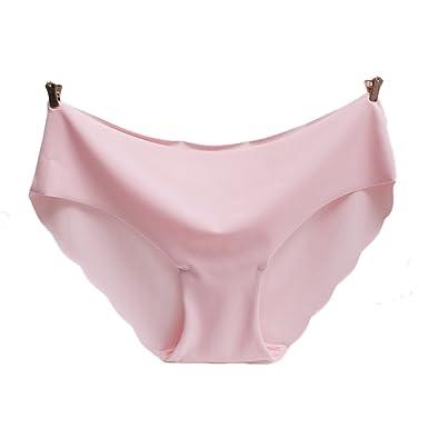 9779a3cfbd 2PCS Women s Underwear Sexy Ice Silk Panties Seamless Transparent ...