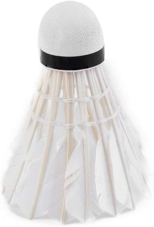 Deniseonuk 5 Piezas de Pluma de Ganso Shuttlecock Bird White Badminton Ball Game Sport Training Promoci/ón Caliente