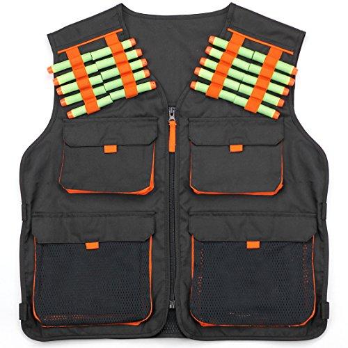 Hero Blasters Kids Tactical Vest for Nerf N-Strike Elite, Mega & Rival Balls +20 Darts Boys Army Vest Ages 8+ ()